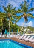 Tropical pool. Pool in the tropical resort Stock Image