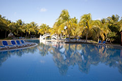 Tropical pool at resort Stock Image