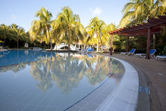 Tropical pool at resort with instagram effect Royalty Free Stock Image