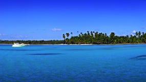 Tropical praia-alguma grão Fotografia de Stock
