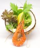 Tropical Prawn Salad Stock Images