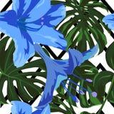 Tropical Print. Jungle Seamless Pattern. Vector Tropic Summer Motif with Hawaiian Flowers. Tropical Print. Jungle Seamless Pattern. Vector Illustration of vector illustration