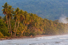 Tropical Pristine Beach In Costa Rica Stock Photo