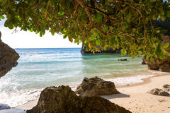 Tropical private beach Royalty Free Stock Photo