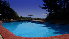 Tropical private pool near the sea. Luxorious Tropical private pool near the sea stock video footage