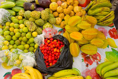 Tropical produce for sale on bequia Stock Photos