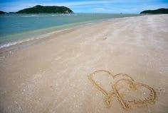 tropical rêveur de plage Photographie stock