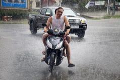 Tropical rain in Cambodia Stock Images