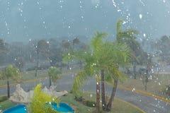 tropical rain storm at Cuban island Stock Images