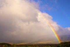 Tropical Rainbow. A beautiful rainbow adorns the maui countryside Stock Photography