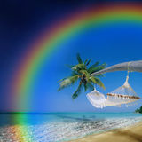 Tropical Rainbow Island Royalty Free Stock Images