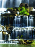 Tropical rainforest landscape with flowing Pongour waterfall in Stock Photo