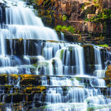 Tropical rainforest landscape with Pongour waterfall. Da Lat, Vietnam Royalty Free Stock Photography