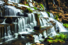 Tropical rainforest landscape with Pongour waterfall. Da Lat, Vietnam Royalty Free Stock Photo