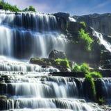 Tropical rainforest landscape with Pongour waterfall. Da Lat, Vietnam Stock Photos