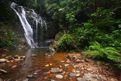 Tropical rainforest waterfall Royalty Free Stock Photos