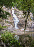 Tropical rainforest waterfall Royalty Free Stock Photo
