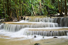 Tropical rainforest waterfall in Thailand Stock Photos