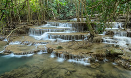 Tropical rainforest waterfall, Thailand Royalty Free Stock Photo