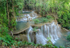 Tropical rainforest waterfall, Thailand Stock Images
