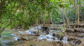 Tropical rainforest waterfall in Thailand Royalty Free Stock Photos