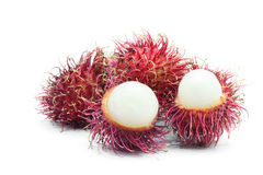 Tropical Rambutan fruit Stock Photos