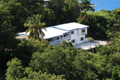 Tropical Realestate. Caribbean hillside real estate on the island Of St.Thomas US Virgin Islands stock photography
