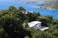 Tropical Realestate. Caribbean hillside real estate on the island Of St.Thomas US Virgin Islands royalty free stock image