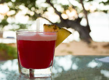 Tropical, red cocktail Royalty Free Stock Images