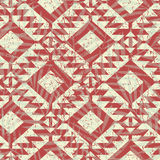 Tropical red tribal palm tree leaves seamless pattern.  Royalty Free Stock Photography