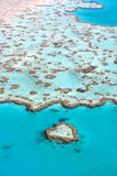 Tropical Reef, Australia. Heart Reef in The Great Barrier Reef, the largest coral reef in the world, Queensland, Australia Royalty Free Stock Photography
