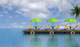 Tropical relax Royalty Free Stock Images