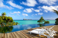 Tropical relax in Mauritius Stock Image