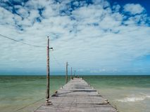 Free Tropical Relaxation In Holbox Island, Mexico, Tourist Destination, Town Pier At The Beach Royalty Free Stock Photography - 112497327