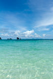 Tropical remote island in the ocean Royalty Free Stock Photo
