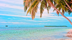 Tropical remote islands in the ocean Royalty Free Stock Photo