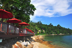 Tropical resort. A beautiful tropical resort in Phuket stock photo