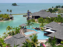 A tropical resort Stock Photo