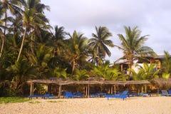 Tropical resort. Resort in Sri Lanka at sunset Stock Photography