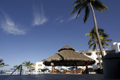 Tropical Resort. With swimming pool area Stock Images