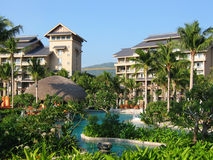 Tropical resort. A gorgeous tropical resort ,sanya hainan province,china Royalty Free Stock Photo