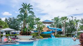 Tropical resort Stock Photo