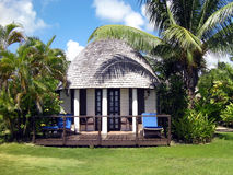 Tropical resort accommodation. Your island hide-away. A tropical resort accommodation option royalty free stock images