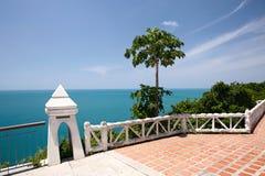 Tropical resort balcony Stock Photo