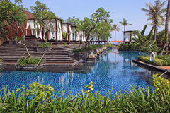 Tropical resort in Bali, Indonesia. Posh hotel in Bali, Nusa Dua, Indonesia Stock Photos