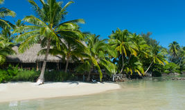 Tropical resort bora bora Royalty Free Stock Images