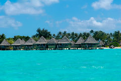 Tropical resort bora bora. Summer background Royalty Free Stock Image