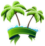 Tropical resort concept Royalty Free Stock Photos
