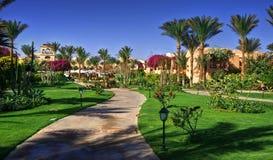 Tropical resort. Royalty Free Stock Image