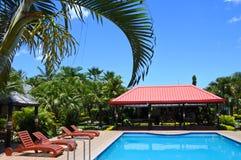 Tropical resort in Fiji Royalty Free Stock Images